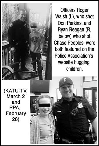 Shooter cops hug kids